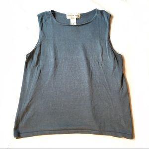August Silk 100% Silk Sleeveless Sweater Top